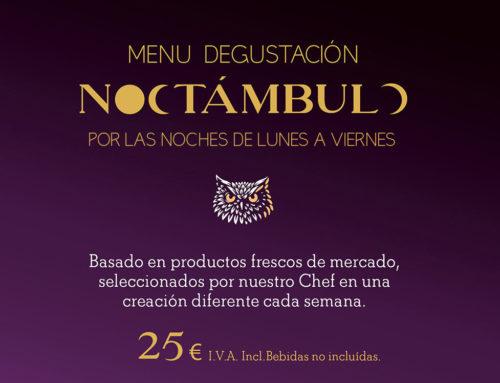 """Menú degustación """"Noctámbulo"""" Novu"""